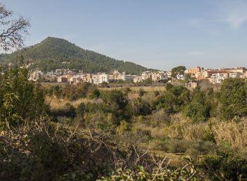 Fotografia dels terrenys de l'entorn de la Colònia Güell